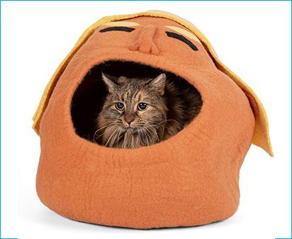 Handcrafted Cat Cave Bed by Twin Critters