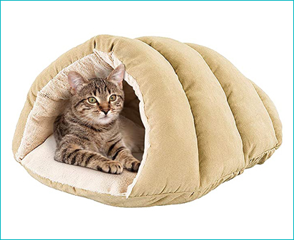 Spot Sleep Zone Faux Suede Cuddle Cave Cat Bed